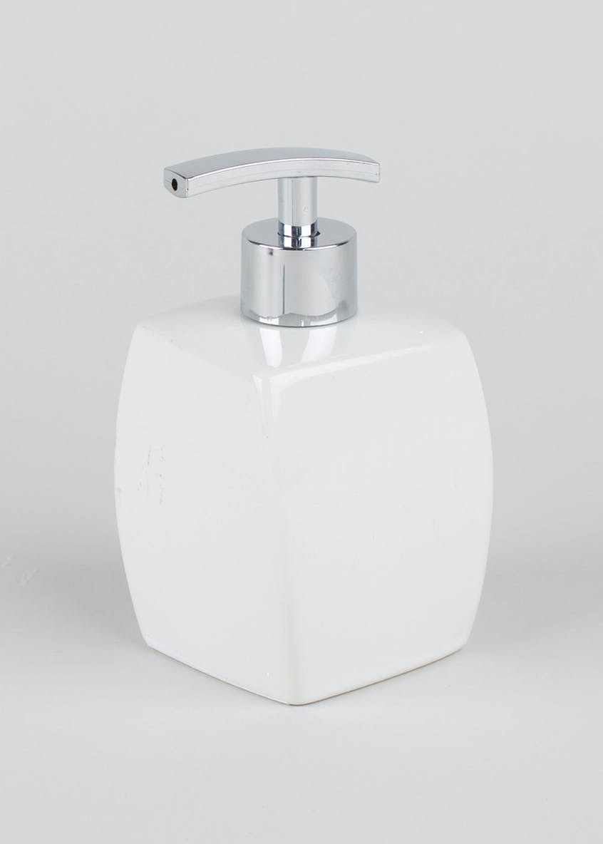 Twisted Ceramic Soap Dispenser (17cm x 7cm)
