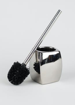 Twisted Chrome Toilet Brush (39cm x 12cm)