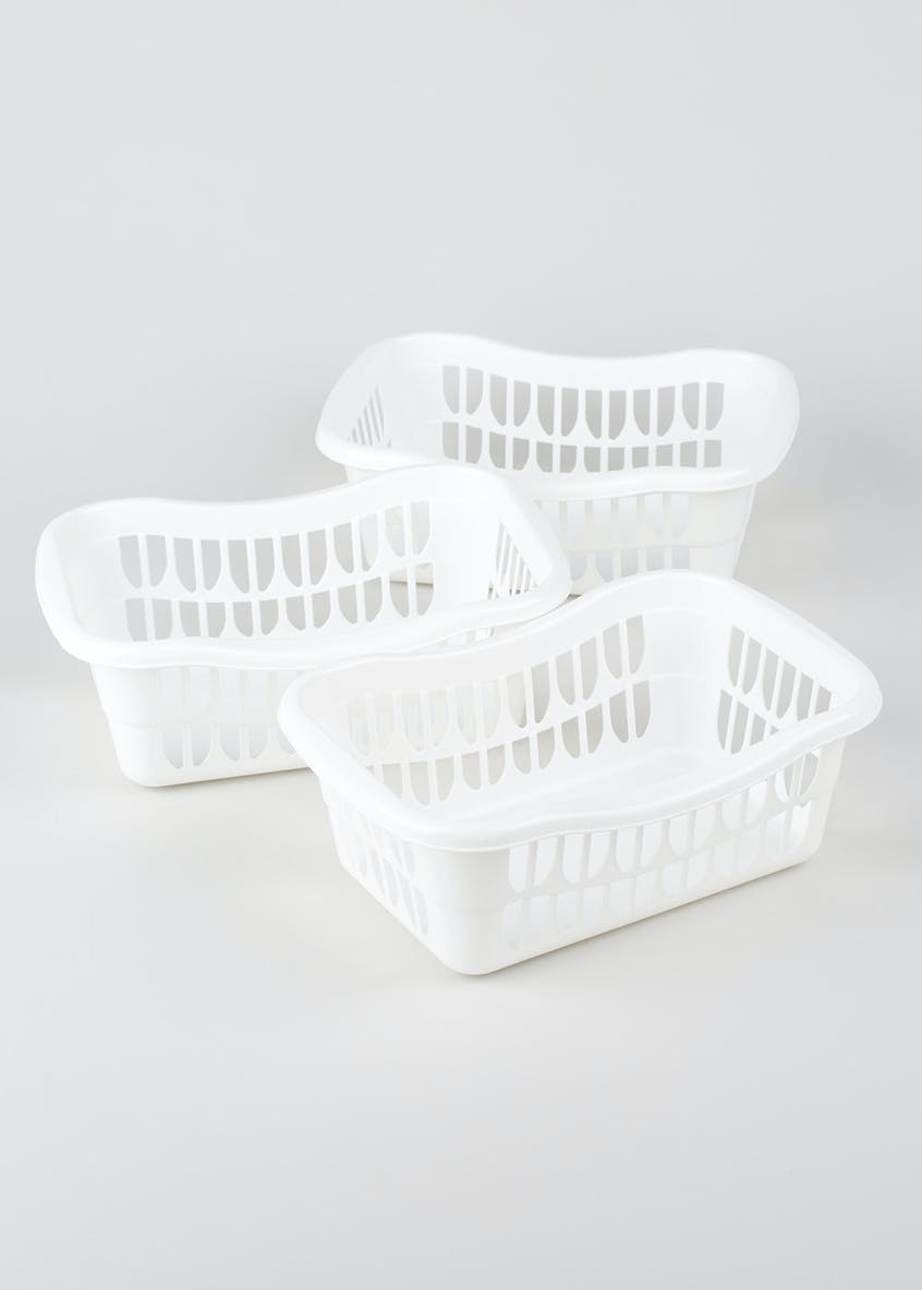 3 Pack Tidy Baskets (30cm x 20cm x 10cm)