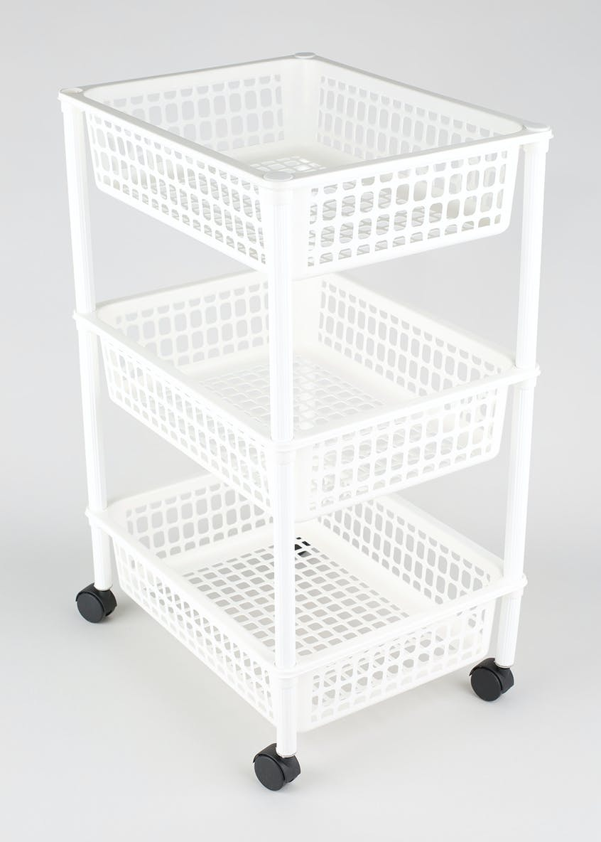 3 Tier Storage Trolley (63cm x 40cm x 31cm)