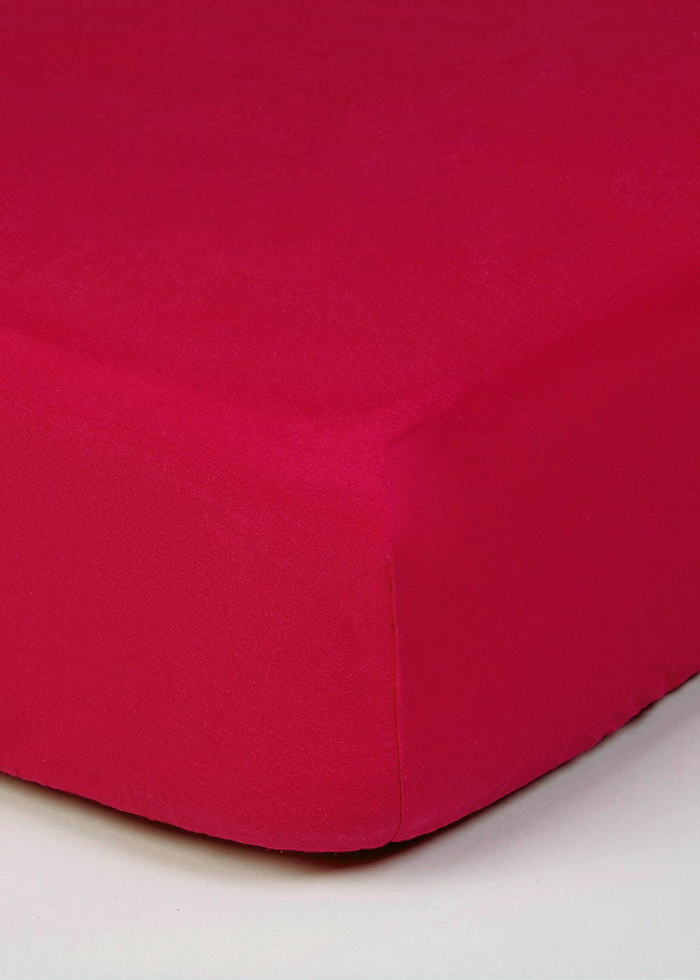 Easycare Polycotton Deep Fitted Sheet Red Matalan
