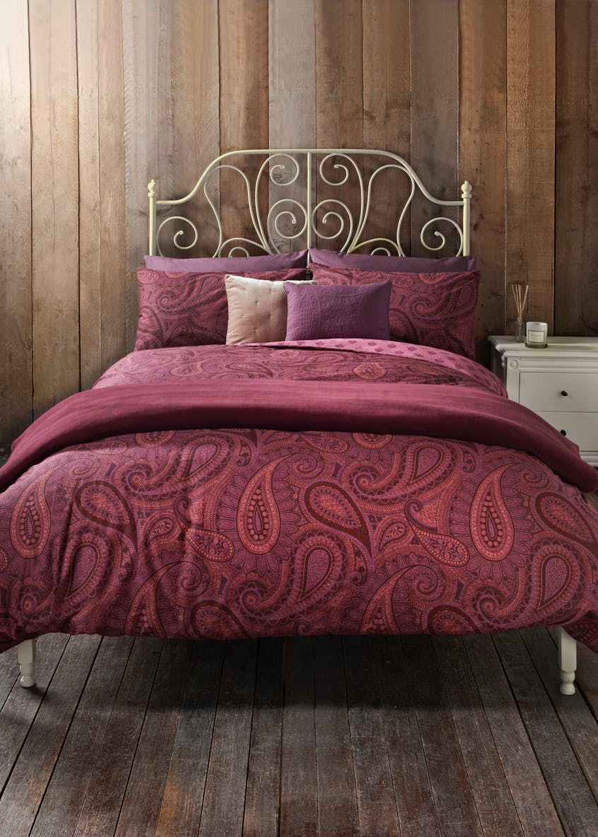 paisley printed duvet cover 200 thread count matalan. Black Bedroom Furniture Sets. Home Design Ideas