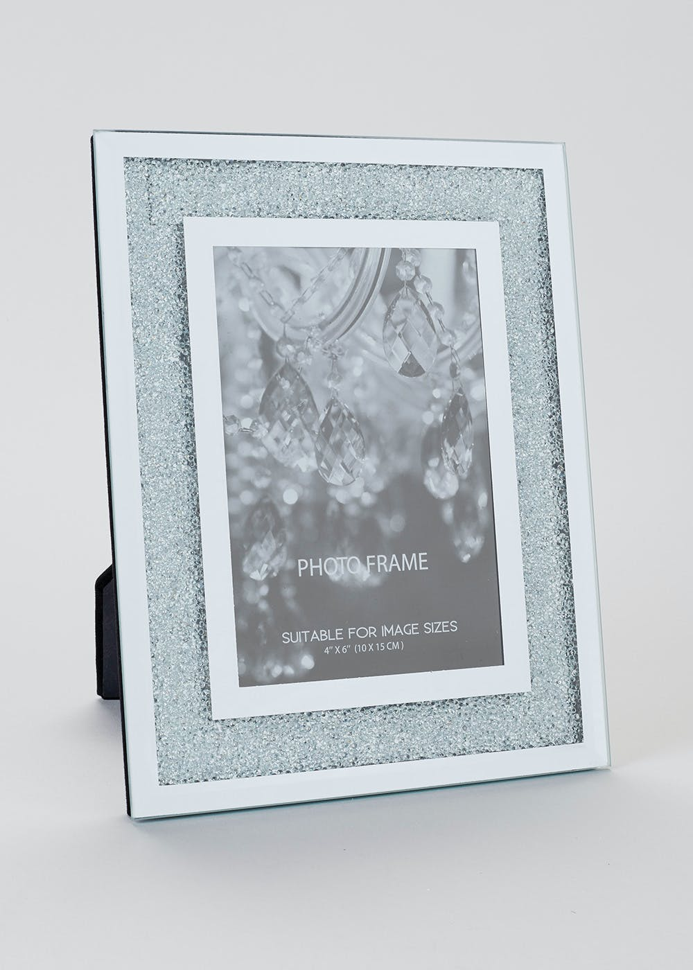 Photo frames picture frames mirrors matalan bling mirrored glass photo frame 24cm x 19cm jeuxipadfo Choice Image