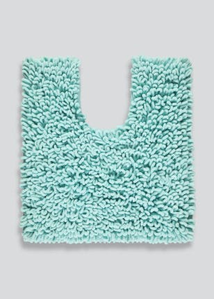 Ultra Absorbent Micro Loop Bath Mat 80cm X 50cm Blue