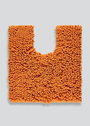 Ultra Absorbent Micro Loop Bath Mat 80cm X 50cm Orange