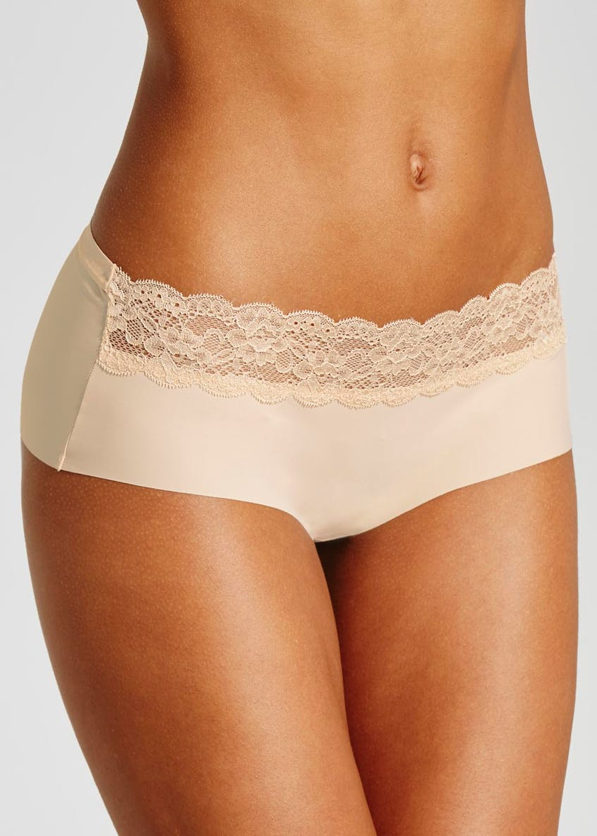 No VPL Lace Trim Short Knickers