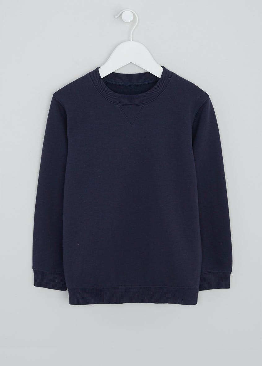 Kids Navy Crew Neck School Sweatshirt (3-13yrs)