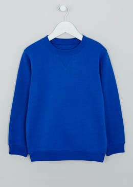 Kids Blue Crew Neck School Sweatshirt (3-13yrs)