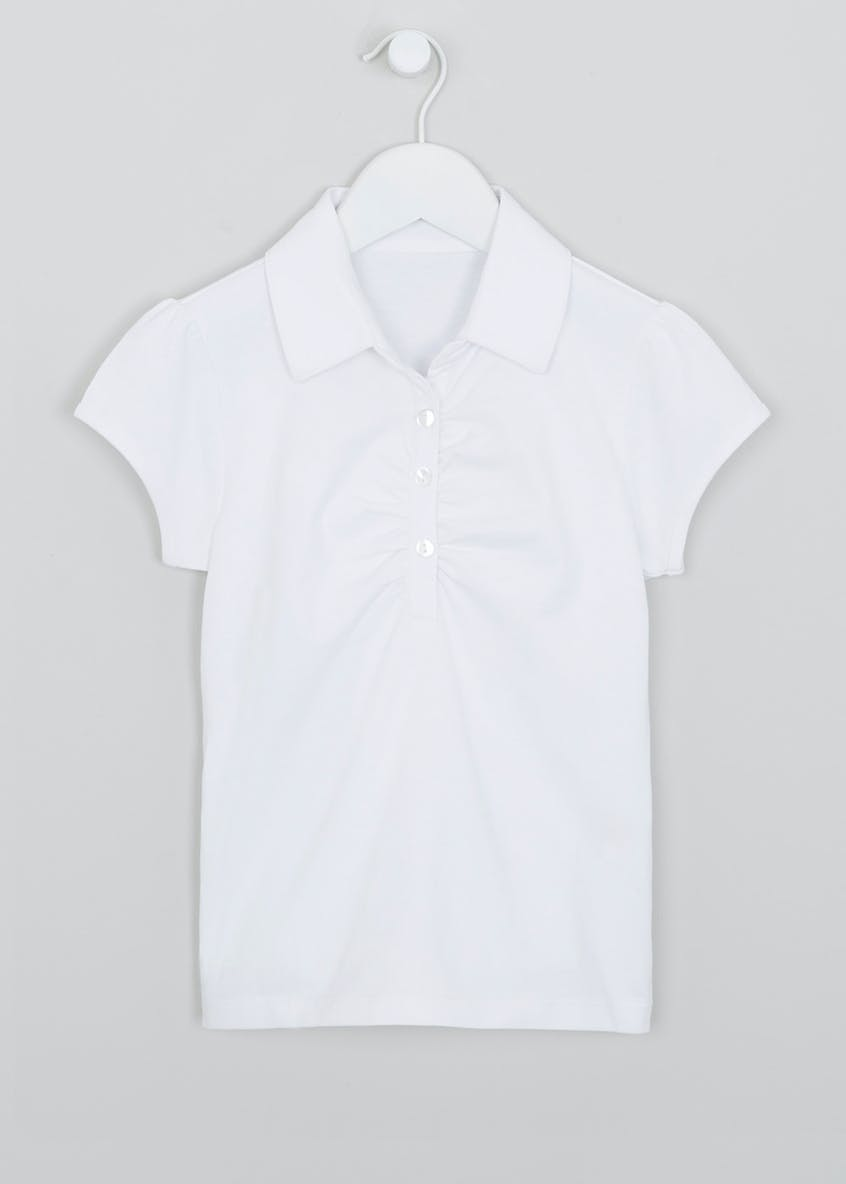 Girls Rouched School Sports Top (8-16yrs)