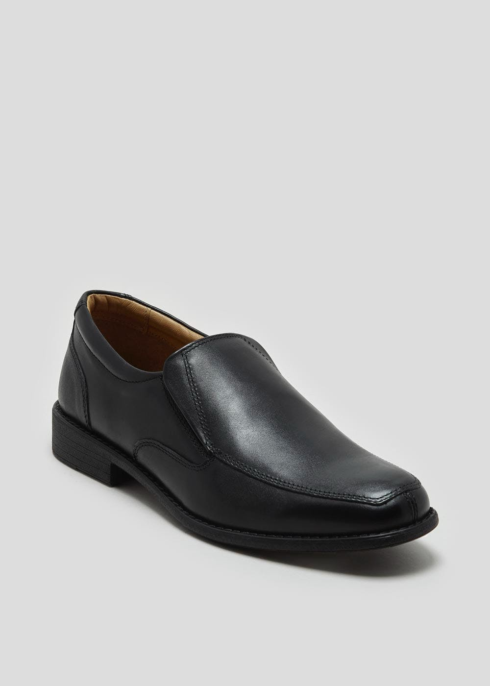 Soleflex Real Leather Slip On Shoes – Black – Matalan
