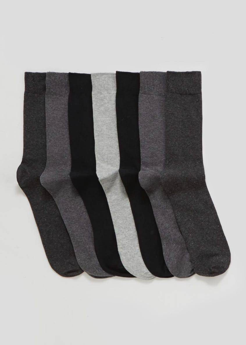 7 Pack Plain Socks