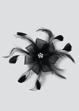 Flower Feather Corsage