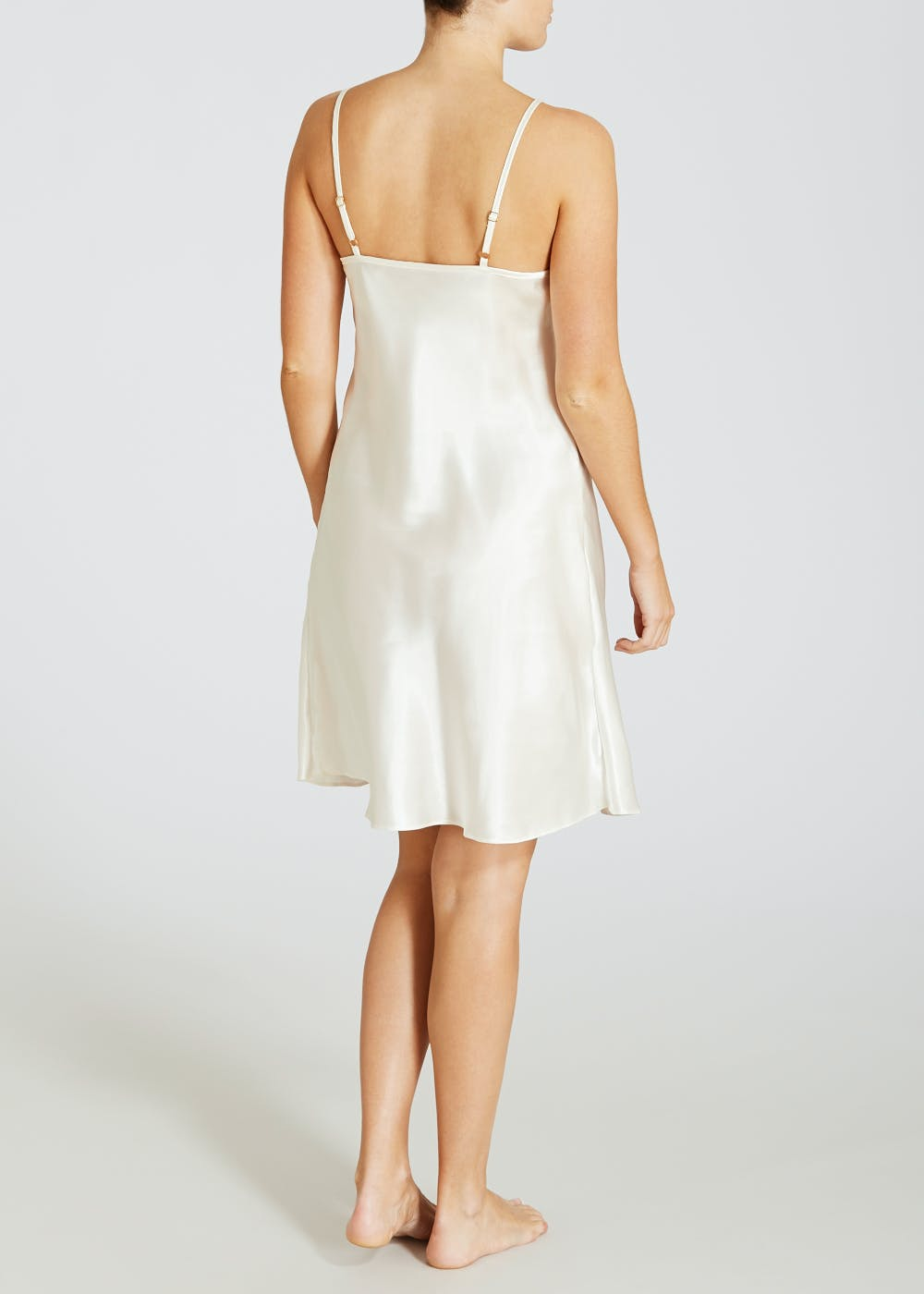 Satin Full Slip – Cream – Matalan