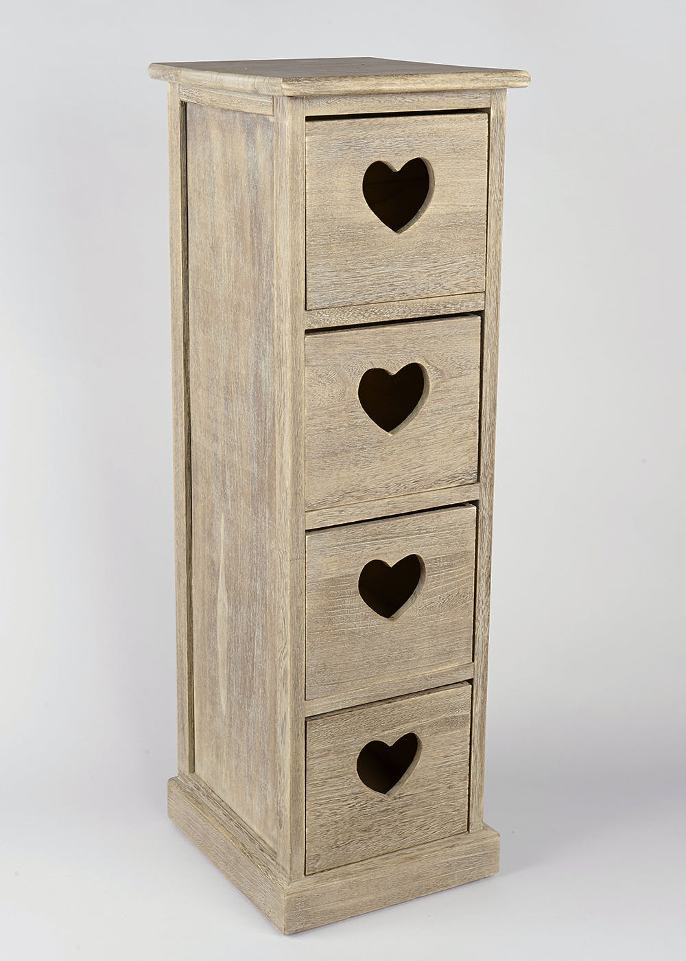 4 Drawer Wooden Storage Unit 80cm X 29cm X 25cm