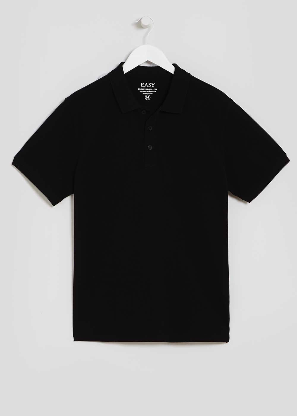 Basic Polo Shirt – Black – Matalan 092d8fff9642