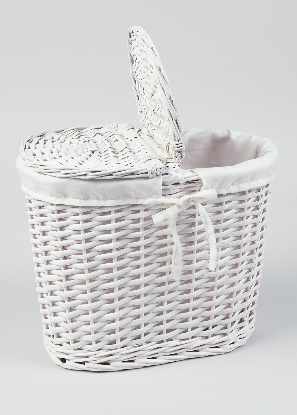 Wicker toilet roll storage basket 19cm x 33cm x 30cm for Loo roll storage