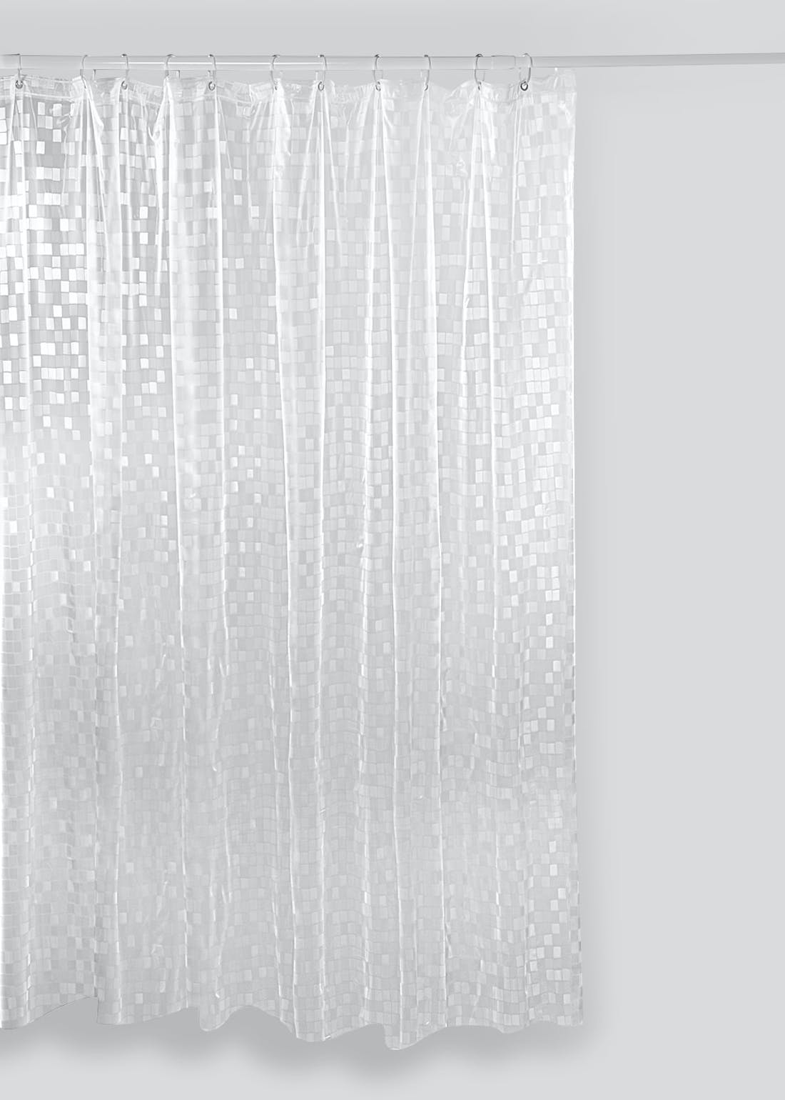 Mosaic Effect Shower Curtain (180cm x 180cm)