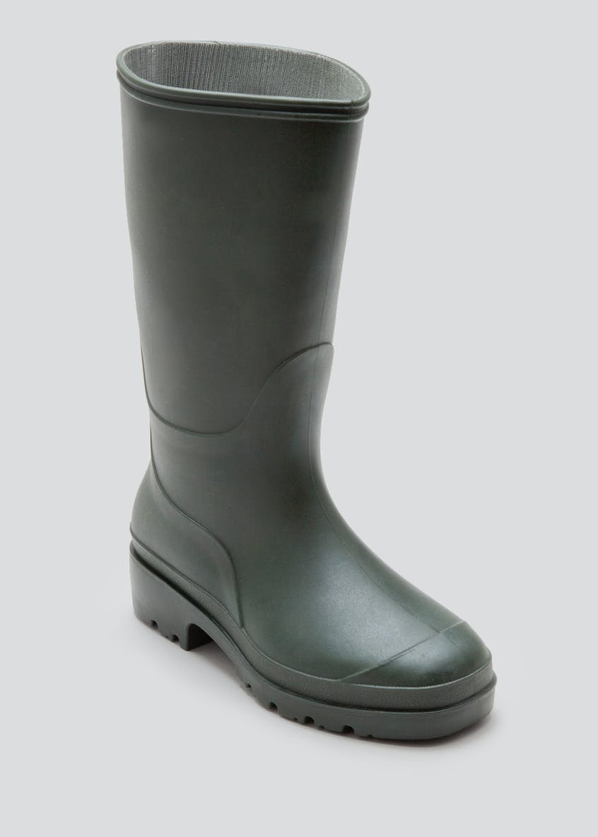 Kids Green PVC Wellies (Younger Kids 10 - Older Kids 6)