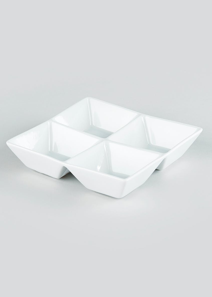 Chicago Square 4 Section Dip Bowl (20cm x 20cm x 5cm)
