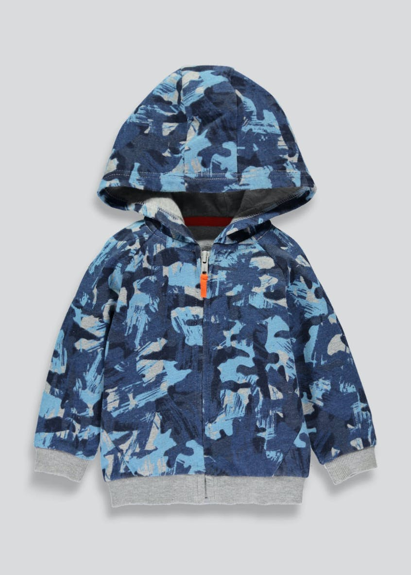 Boys Camo Print Zip Through Hoodie (6mths-5yrs)