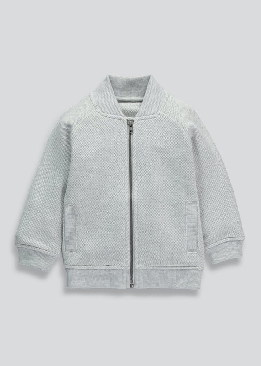 Boys Zip Through Baseball Sweatshirt (3mths-5yrs)