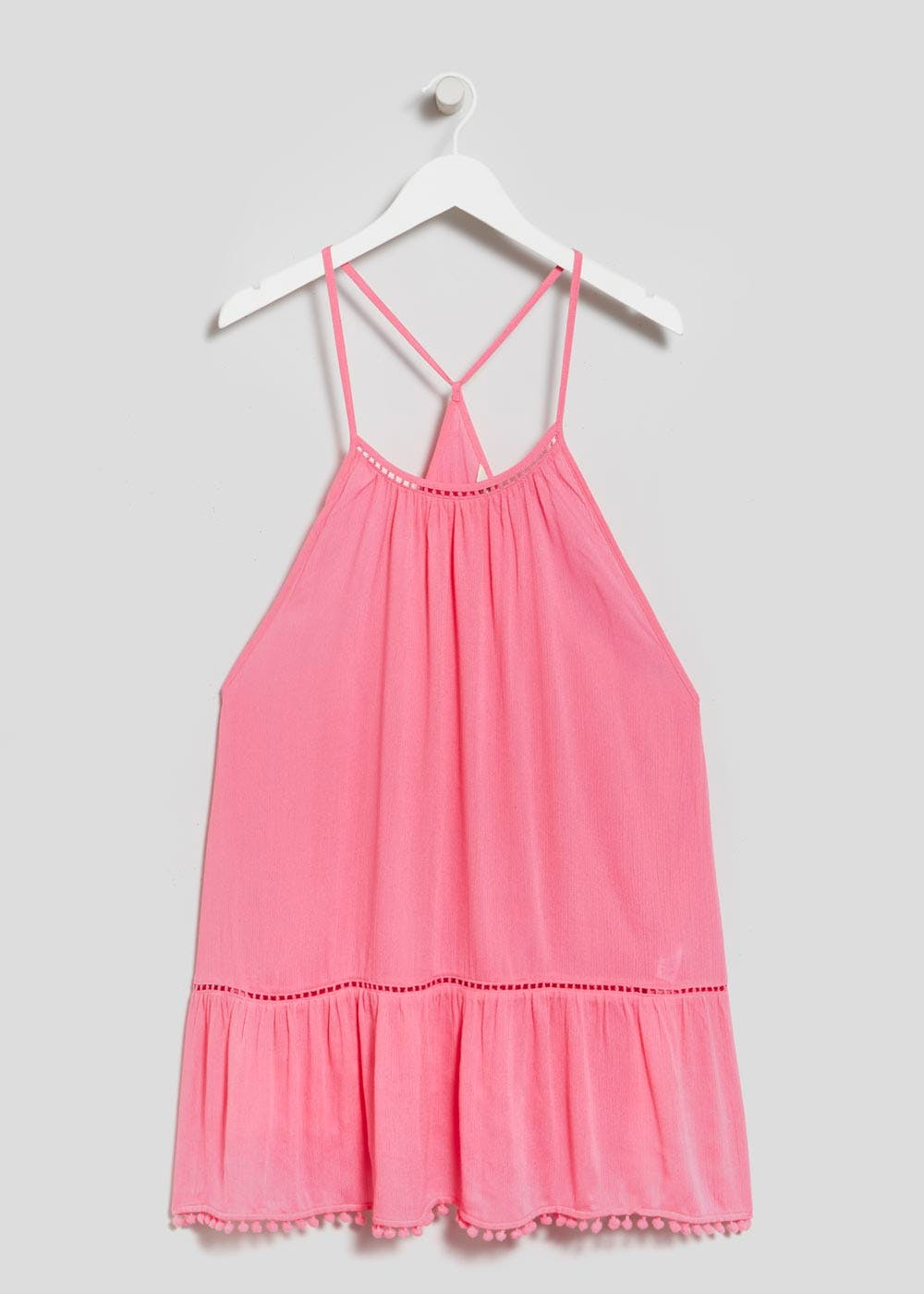 Pom Pom Beach Dress – Pink – Matalan