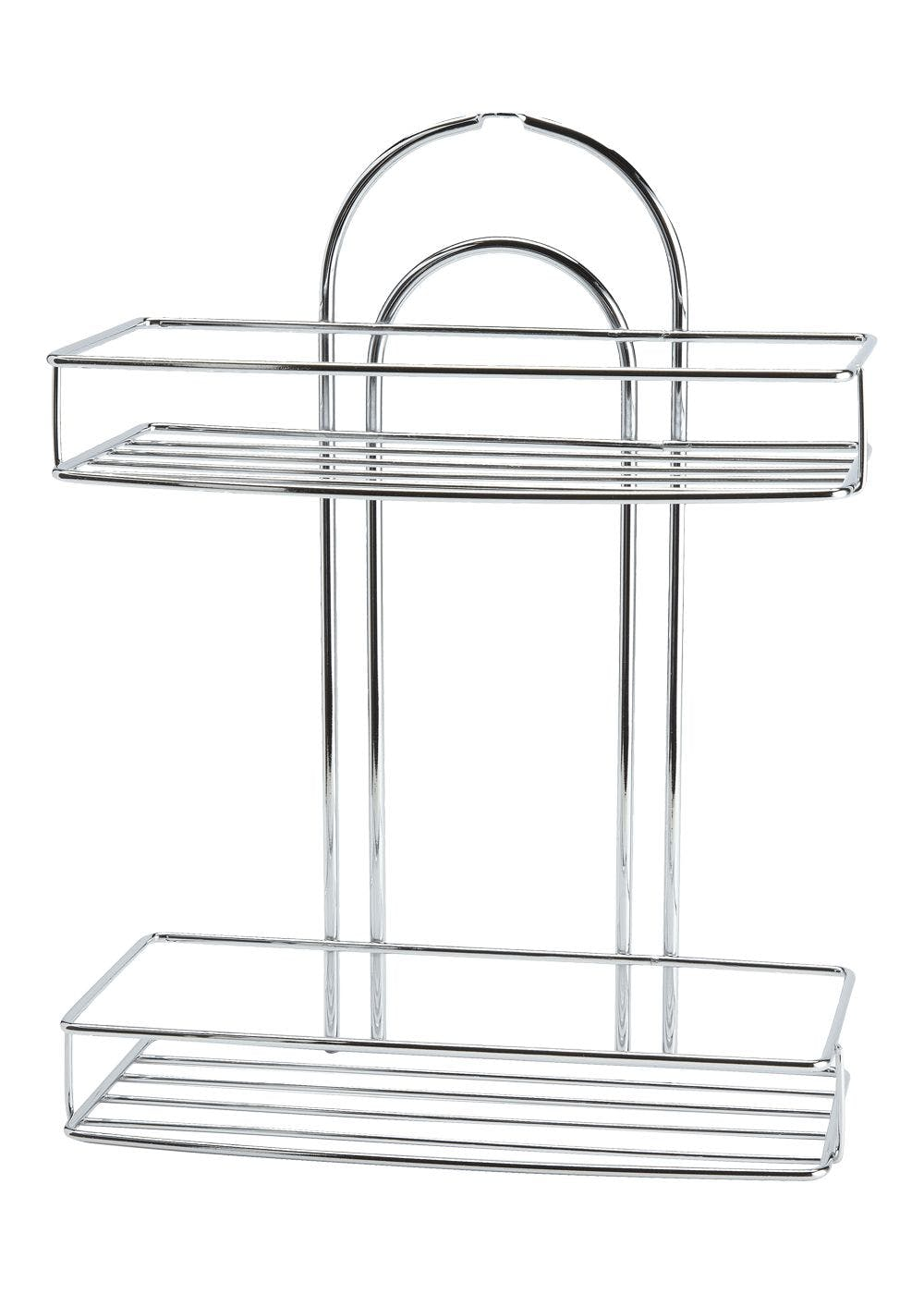 Wire Chrome Shower Caddy (34cm x 23cm x 12cm) – Metallic – Matalan