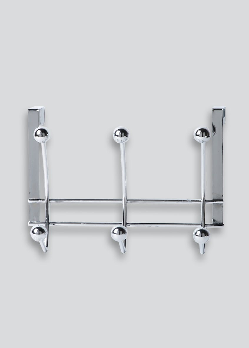 Chrome Over Door Hooks (27cm x 20cm)