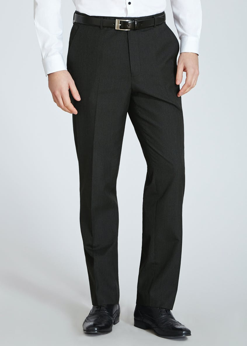 Striped Flat Front Trousers