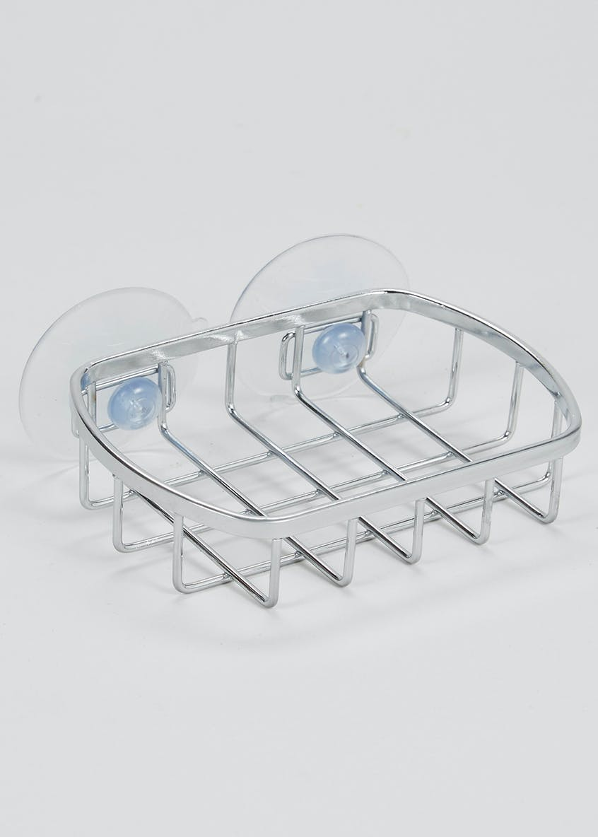 Wire Chrome Soap Dish (12cm x 10cm x 3cm)
