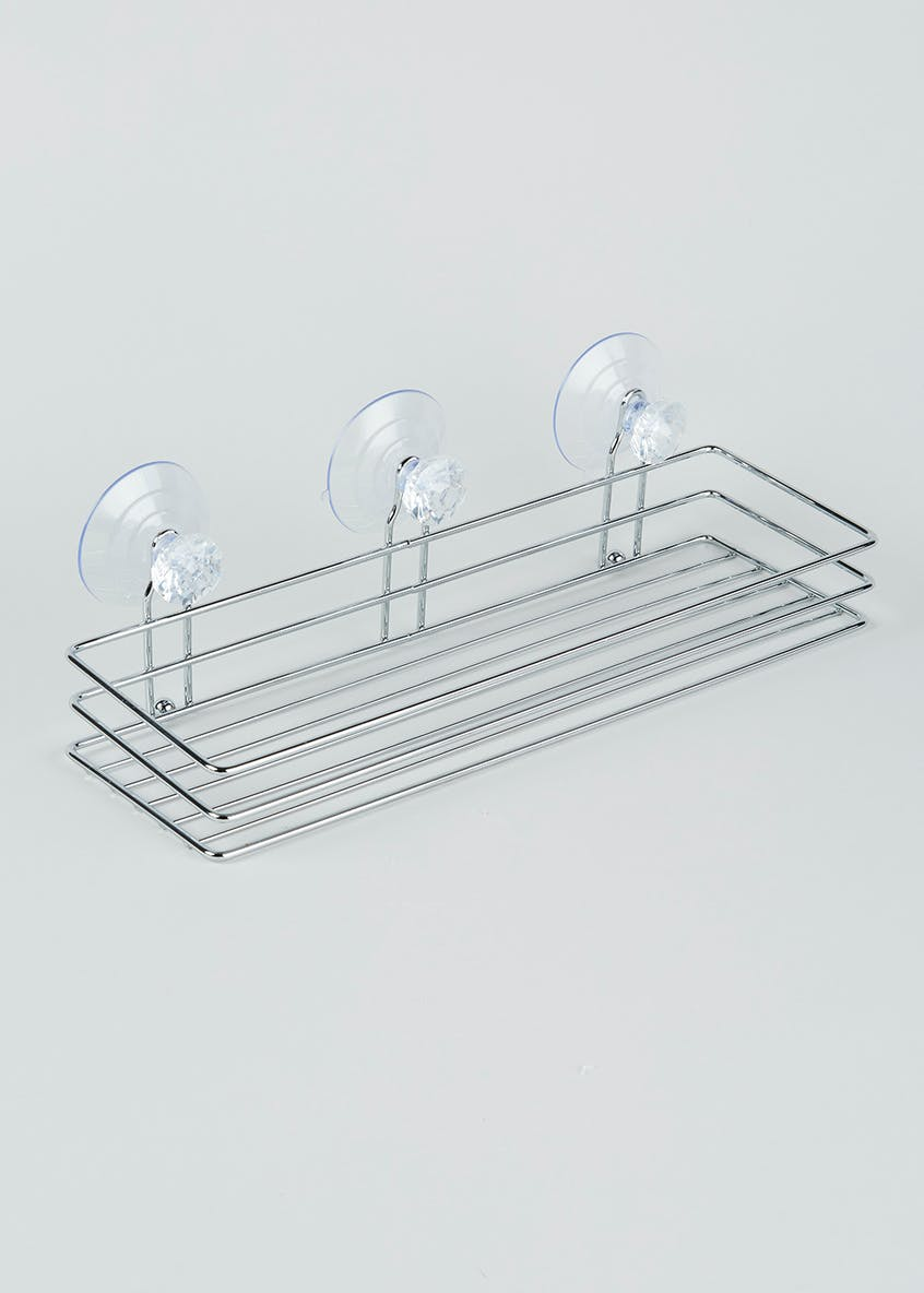 Diamante Wire Bath Shelf (34cm x 11cm x 11cm)