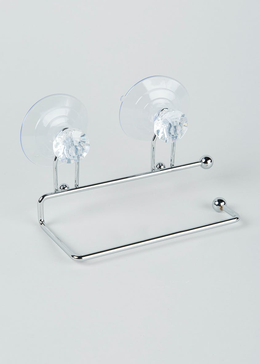 Diamante Toilet Roll Holder (17cm x 10cm x 8cm)