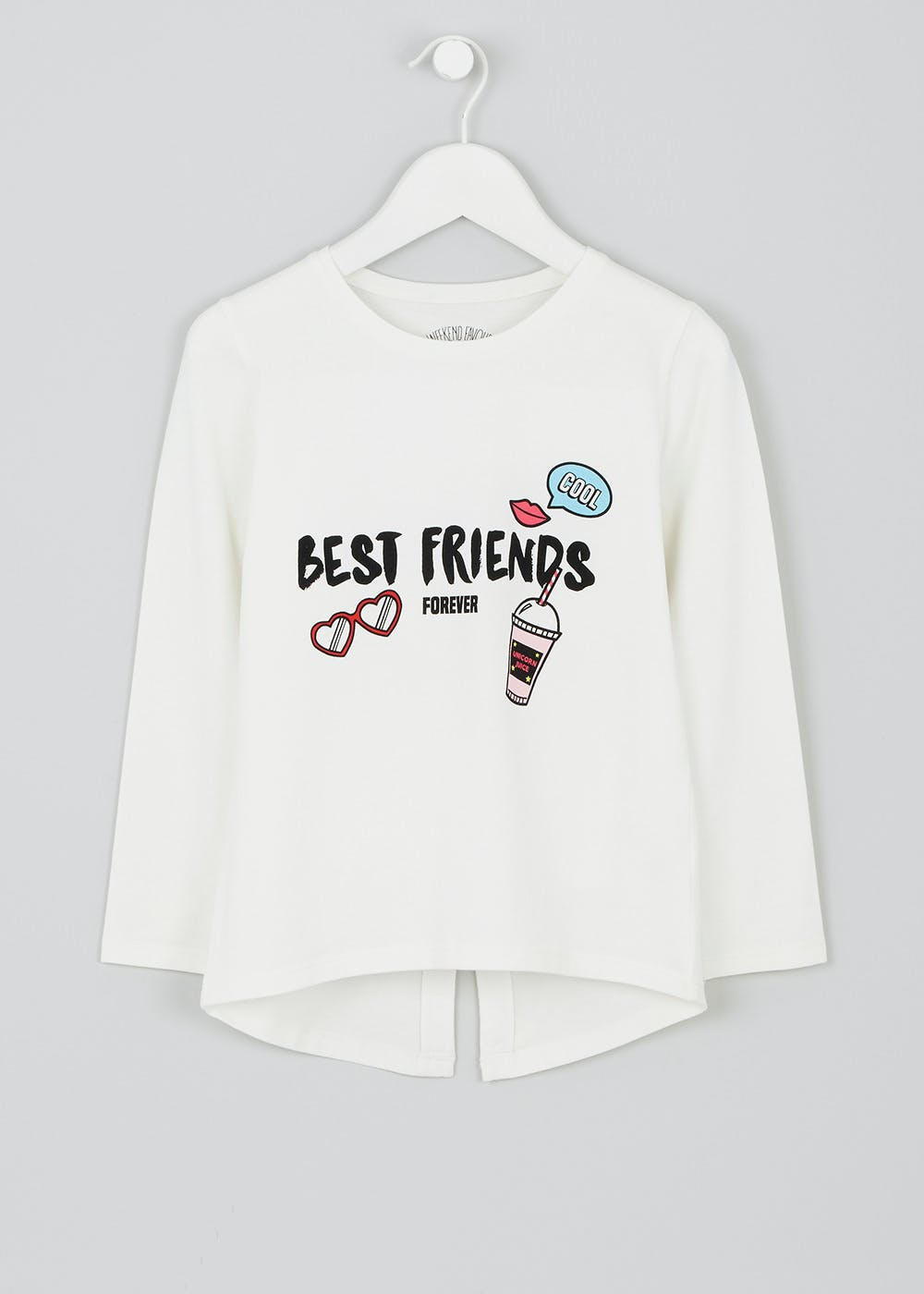 54fff231309518 Girls 'Best Friends' Long Sleeved T-Shirt (3-13yrs) – – Matalan