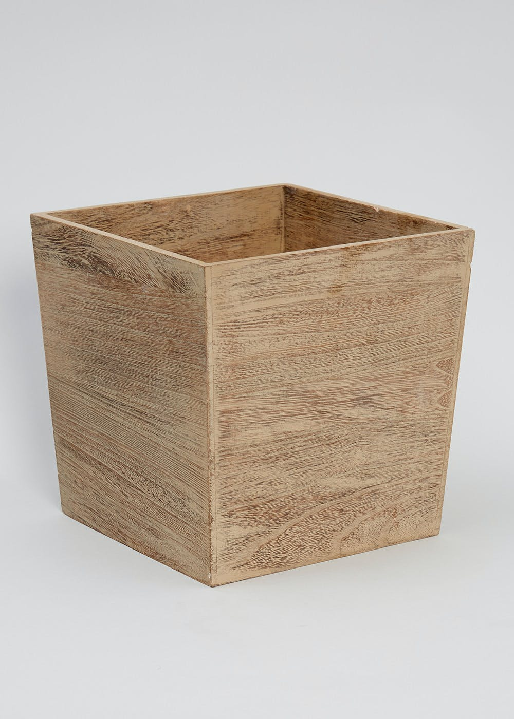 Plastic bathroom accessories uk - Square Wooden Bin 25cm X 25cm