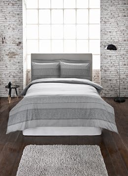 Herringbone Printed Duvet Cover