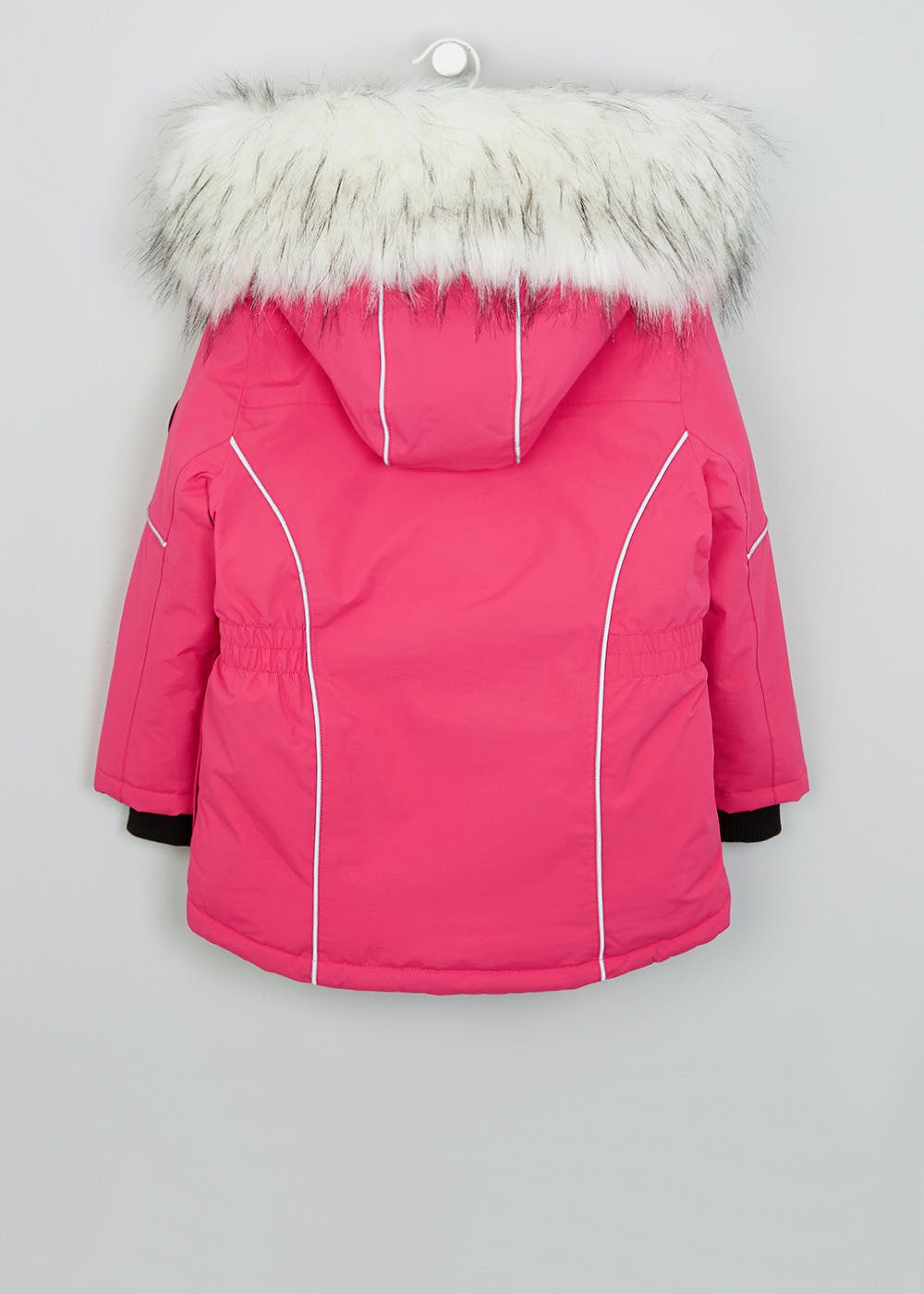 Girls Pink Hooded Jacket (3-13yrs) – Pink – Matalan