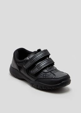 Boys Coated Leather Trainer (Younger 10-Older 6)