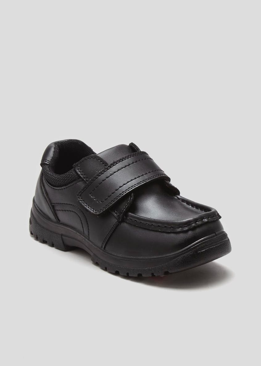 Boys Coated Leather Chunky School Shoes (Younger 8-Older 6)