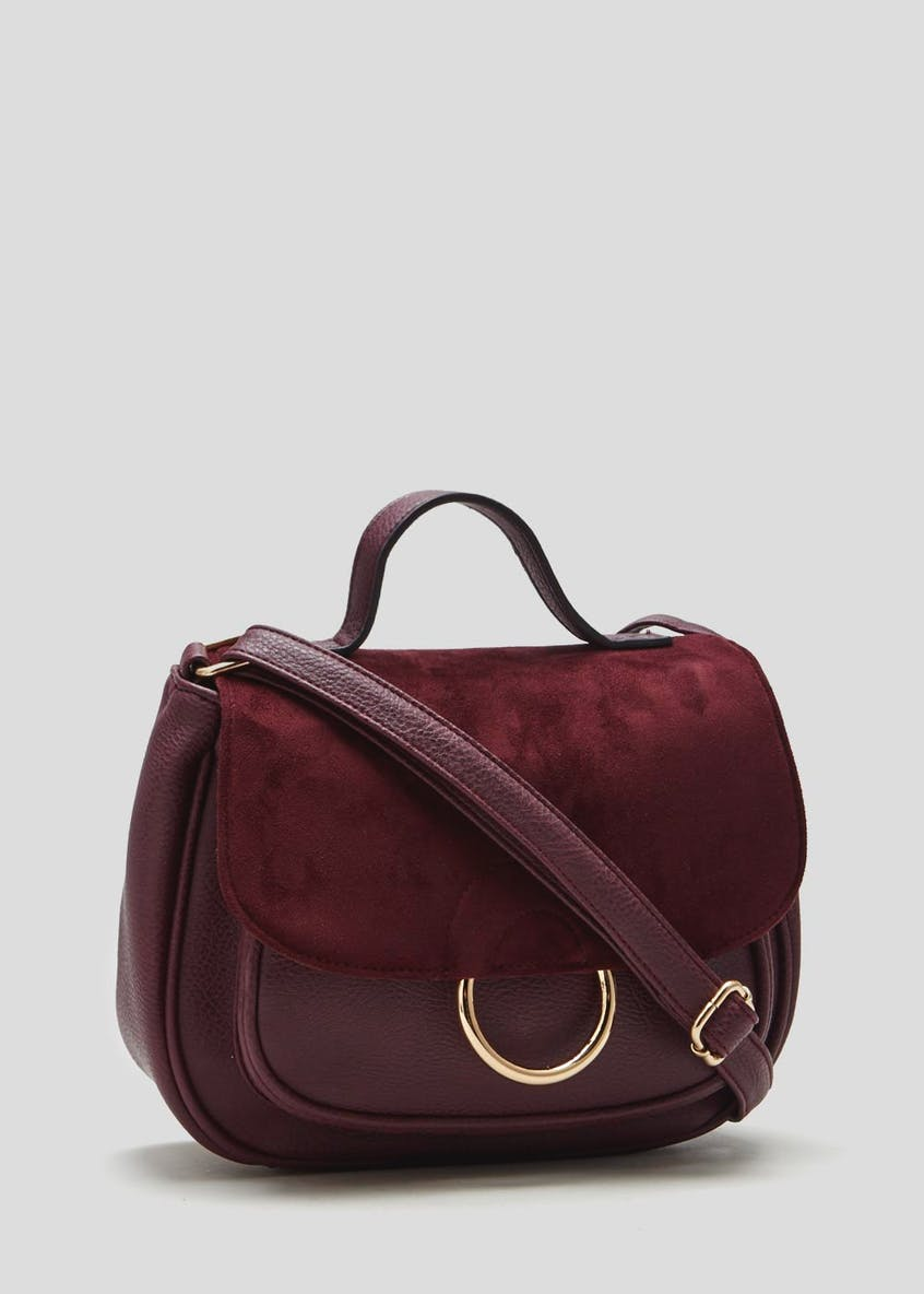 Suedette Cross-Body Bag