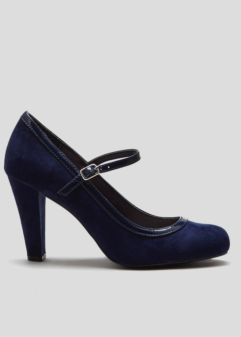 Wide Fit Mary Jane Court Shoe