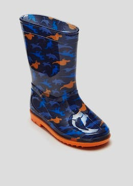 Boys Dino Print Wellies (Younger 4-12)
