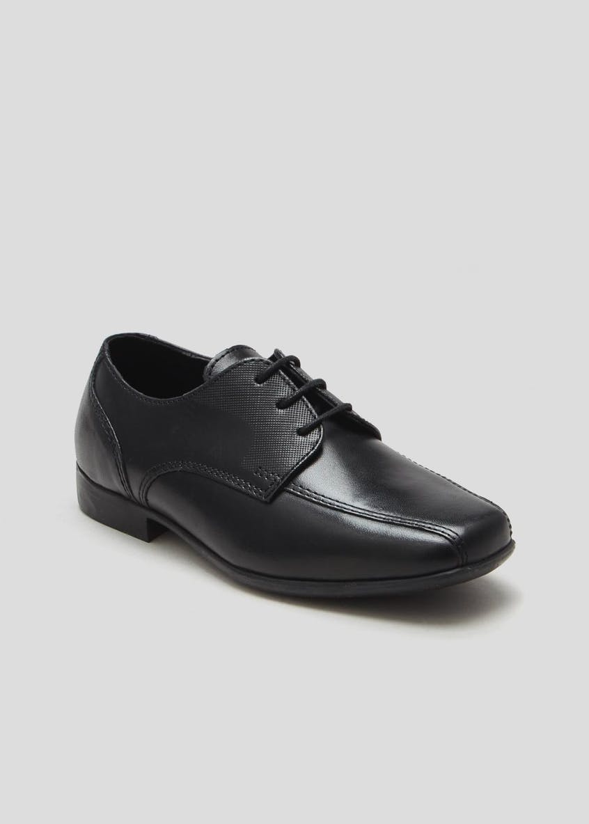 Boys Real Leather School Shoes (Younger 8-Older 6)