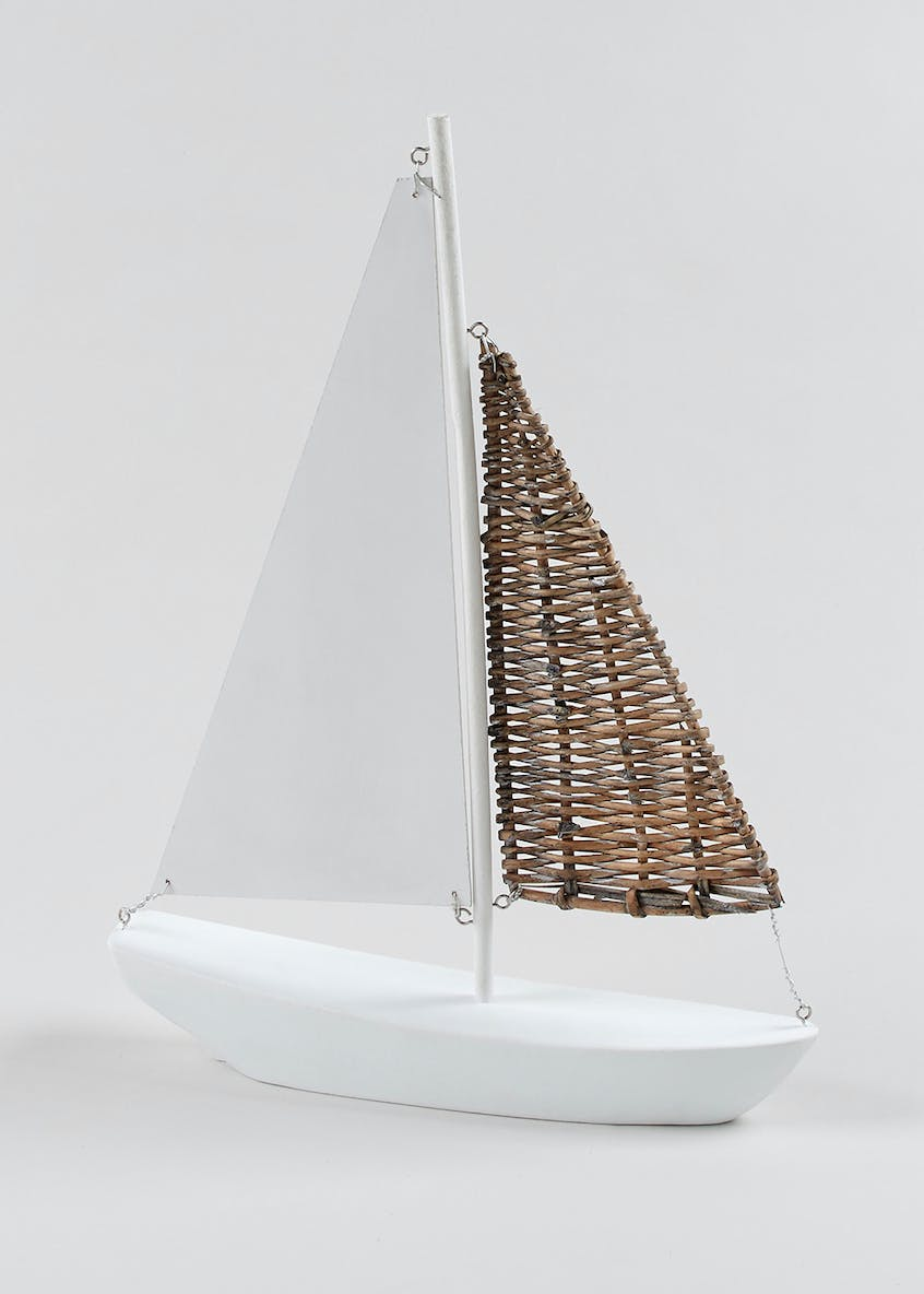 Decorative Wood Sailing Boat (40cm x 30cm)