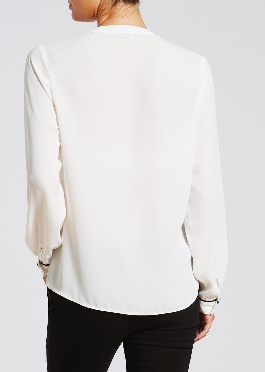 Piped Detail Blouse