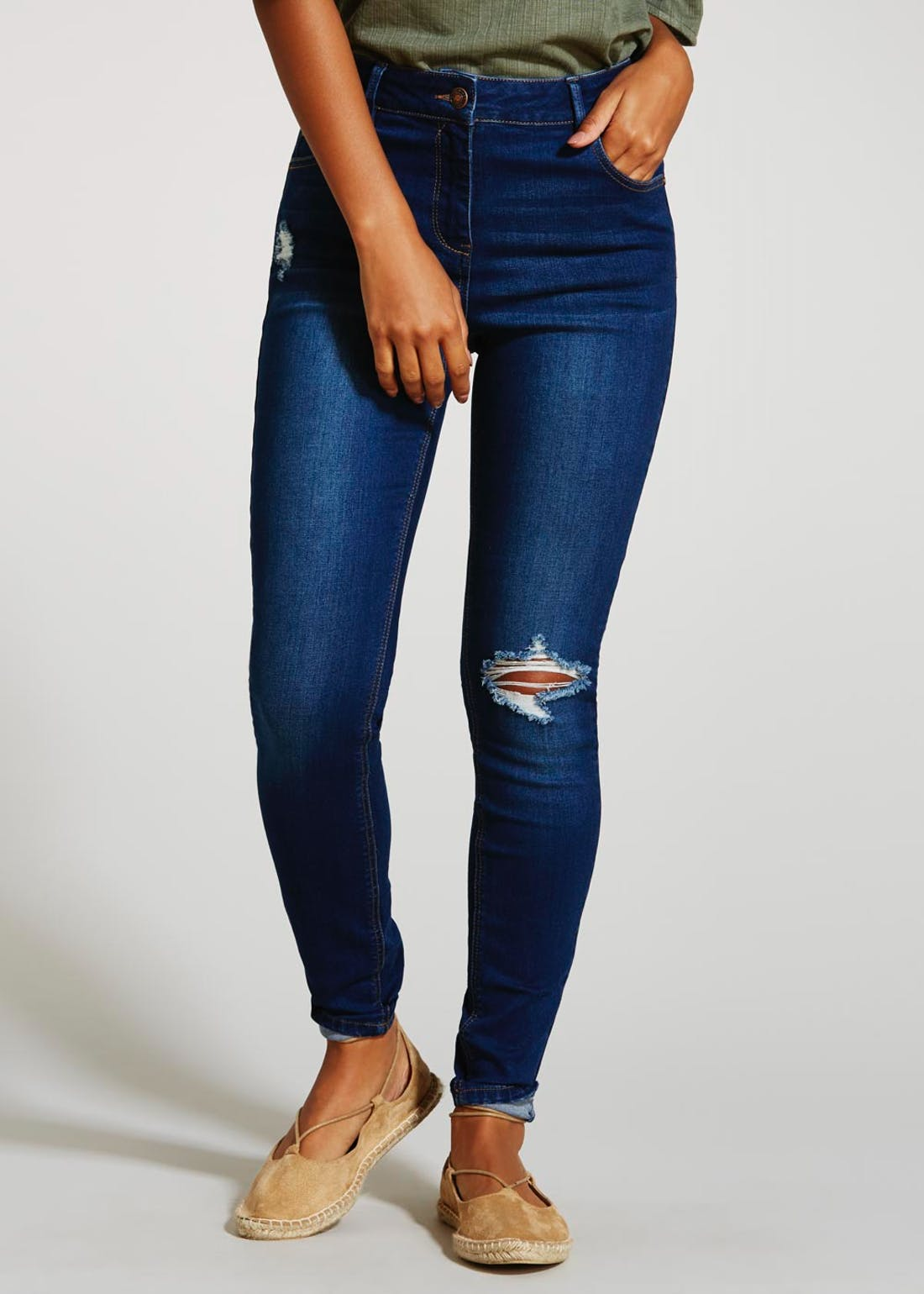 April Super Skinny Ripped Jeans