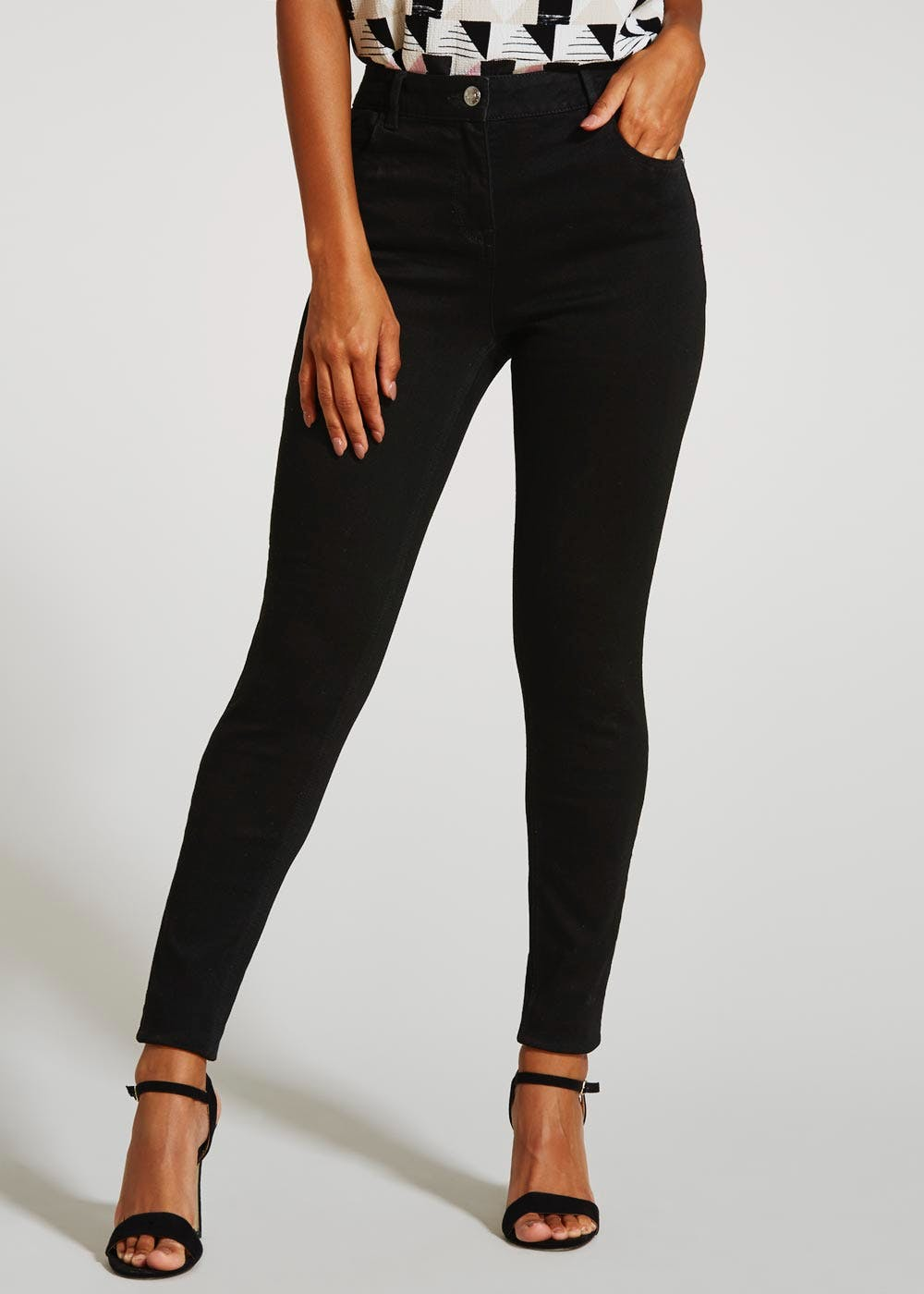dacd38e06e4d2 April Super Skinny Jeans – Black – Matalan