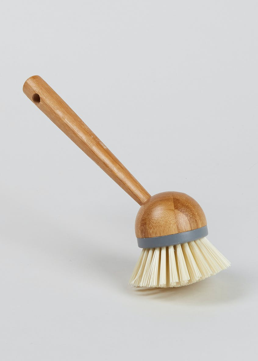 Wooden Handle Dish Brush (23cm x 8cm)