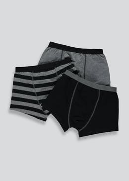 Boys 3 Pack Striped Trunks (2-13yrs)