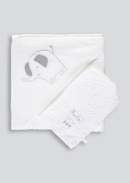 Unisex Hooded Towel & Wash Mitt (One Size)