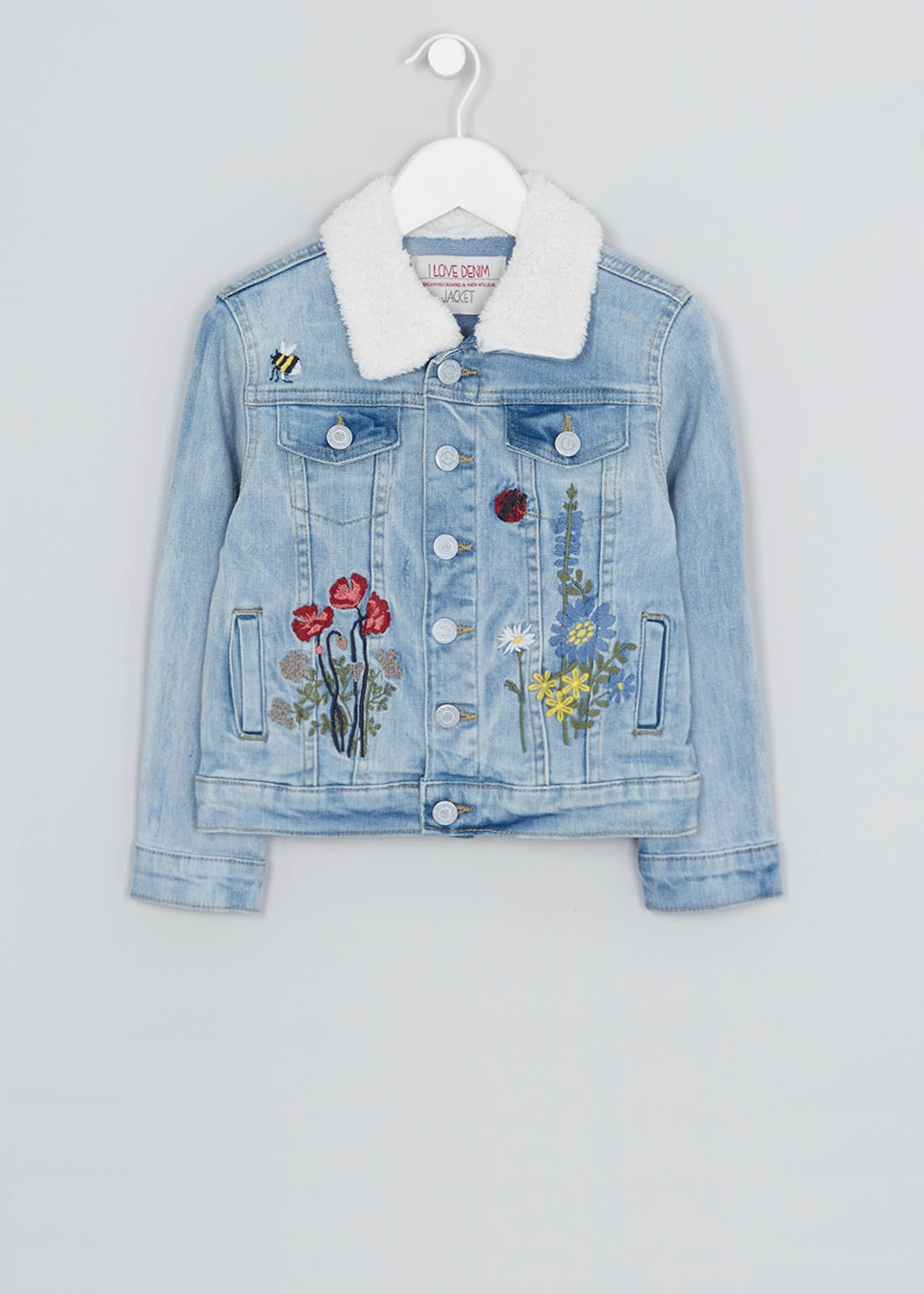 Girls Embroidered Denim Jacket (3-13yrs)